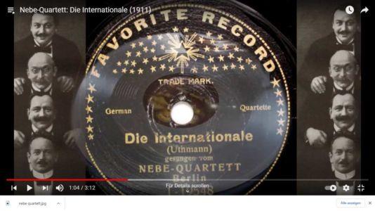 Nebe-Quartett: Die Internationale (1911)