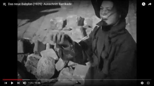 """Das neue Babylon (1929, Ausschnitt """"Barrikade"""")"""