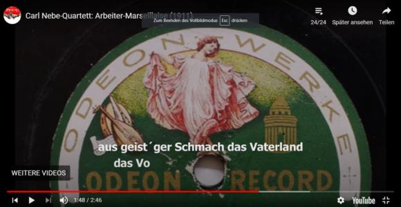 Carl Nebe Quartett: Arbeiter-Marseillaise