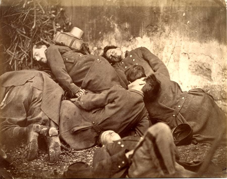 Soldats de la Commune. Photomontage