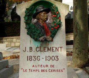 Grabstein von J.B. Clement